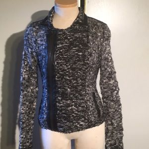 Guess Knit and Faux Leather Jacket